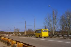 The yellow bus. Royalty Free Stock Photography