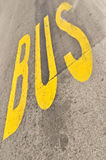 Yellow Bus sign Stock Photos