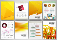 Yellow business backgrounds and abstract concept infographics Royalty Free Stock Photo