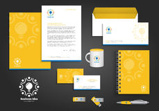 Yellow Business Idea Corporate Identity Stock Image