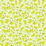 Yellow butterfly, seamless background. Yellow butterfly on green leaves, seamless background Royalty Free Stock Images
