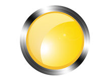 Yellow button Royalty Free Stock Photography
