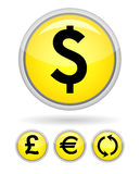 Yellow button Stock Images
