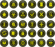 Yellow button. Many yellow button vector illustration Royalty Free Stock Images