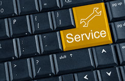 Yellow button service Royalty Free Stock Image
