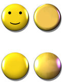 Yellow Buttons Stock Image