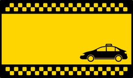 Yellow cab background with taxi car Royalty Free Stock Photo