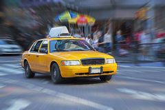 Yellow Cab In New York. Royalty Free Stock Images