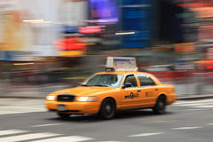 Yellow Cab in motion Royalty Free Stock Photography