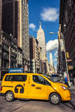 Yellow cab New York City stock photography