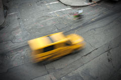 Yellow Cab New York City streets Royalty Free Stock Image
