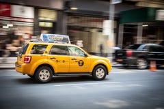 Yellow cab in New York City Stock Photo