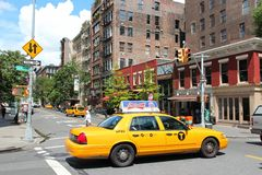 Yellow cab in New York Royalty Free Stock Image
