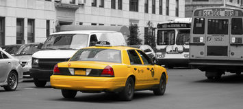 Yellow Cab Stock Images