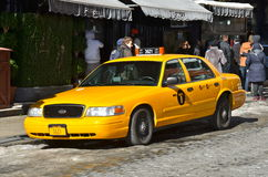 Yellow cab, NYC Stock Images