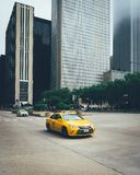 Yellow Cab on Road royalty free stock photos