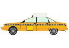 Yellow cab silhouette. Royalty Free Stock Photos