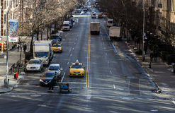 Yellow cab on the streets of western manhattan Royalty Free Stock Image