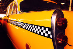 Yellow Cab Taxi, Color detail on the back light of Taxi Checker Stock Images