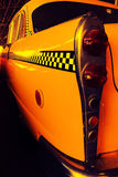 Yellow Cab Taxi, Color detail on the back light of Taxi Checker Stock Image