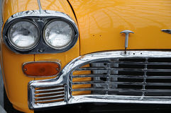 Yellow cab taxi. Detail of a yellow cab taxi, the typical taxi of New York royalty free stock photography