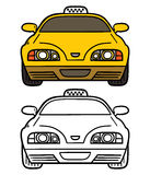 Yellow cab. Stock Image