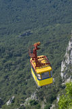 Yellow cable car Royalty Free Stock Image