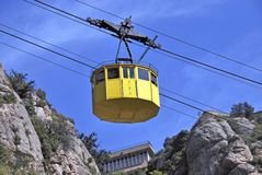 Yellow cablecar Royalty Free Stock Image