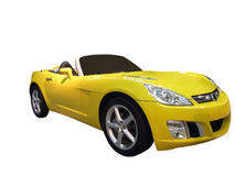 Yellow cabriolet Royalty Free Stock Image