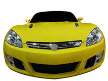 Yellow cabriolet Stock Images