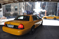 Yellow cabs Royalty Free Stock Photos