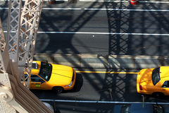 Yellow Cabs stock photos