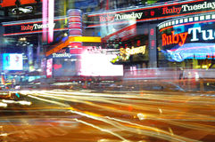 Yellow cabs blur Stock Photography