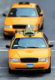 Yellow cabs in city Stock Photo