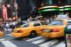 Yellow Cabs New York City stock photo