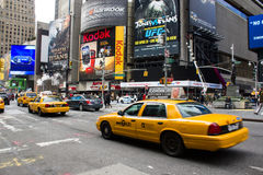 Yellow cabs  in New York. Currently there are mo Stock Images