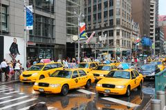 Yellow cabs Royalty Free Stock Photography