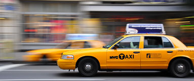 Yellow cabs during rush hour Stock Image