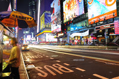 Yellow cabs at Times Square Royalty Free Stock Image