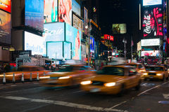 Yellow cabs in Times Square Royalty Free Stock Images