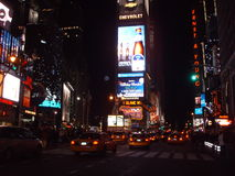 Yellow Cabs on Times Square, New York. Stock Photos