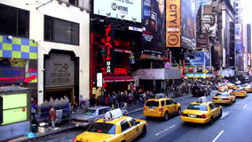 Yellow Cabs at Times Square New York USA cityscapes stock video footage
