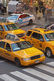 Yellow cabs at Times Square (NYC) Stock Images