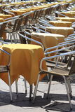 Yellow cafe chairs Royalty Free Stock Photo
