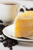 Yellow cake. Royalty Free Stock Images