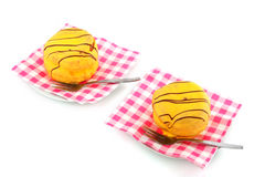 Yellow cakes Royalty Free Stock Photo