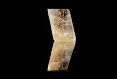 Yellow Calcite Rhomb Stock Photo