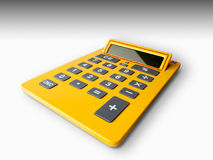 Yellow calculator Royalty Free Stock Photos