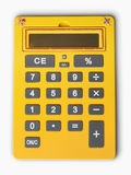 Yellow calculator Stock Images