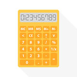 Yellow calculator Royalty Free Stock Photo
